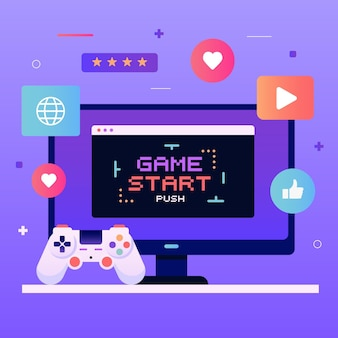 Concept de jeux en ligne
