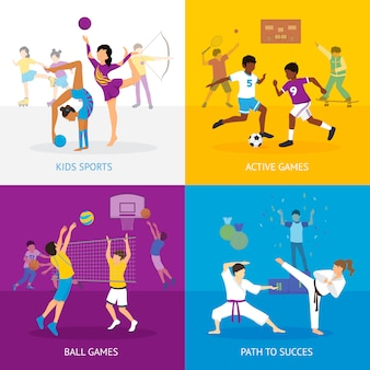 Concept de jeux de sport