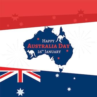 Concept de jour australie design plat