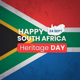 Concept de jour du patrimoine de l'afrique du sud design plat