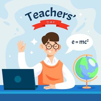 Concept de jour des enseignants design plat