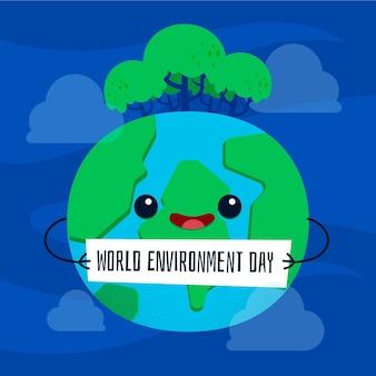Concept de jour de l'environnement mondial du design plat