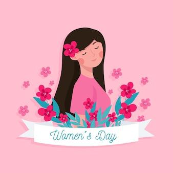 Concept de jour féminin design plat