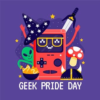Concept de jour de fierté geek