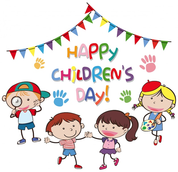 Concept de jour heureux pour les enfants