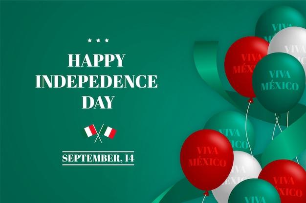 Concept de jour de l'indépendance mexicaine design plat