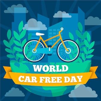 Concept de jour libre de voiture mondiale design plat