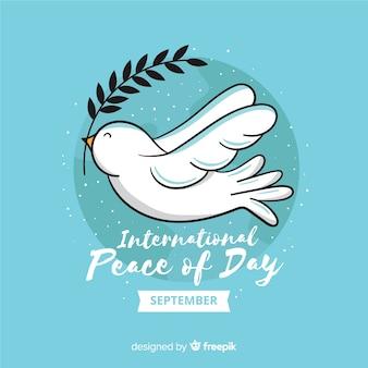 Concept de jour de paix avec colombe design plat