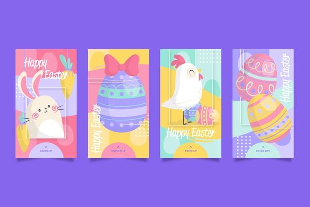 Concept de jour de pâques pour la collection d'histoires instagram