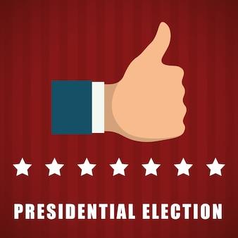 Concept de jour de présidents avec design d'icône, illustration vectorielle illustration 10 eps.