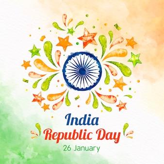 Concept de jour république indienne aquarelle
