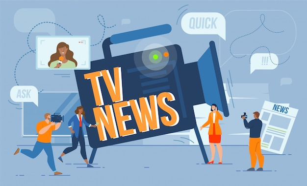 Concept de journaliste de chaîne de télévision