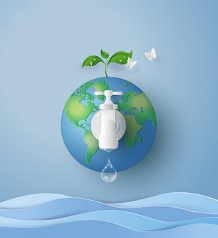 Concept de journée de l'eau écologique et mondiale
