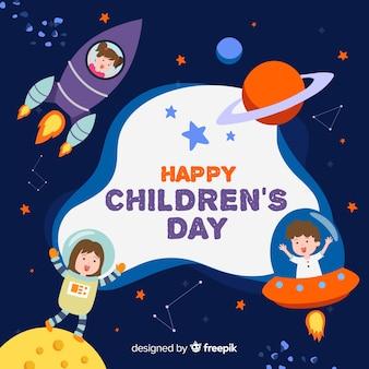 Concept de la journée des enfants dessinés à la main