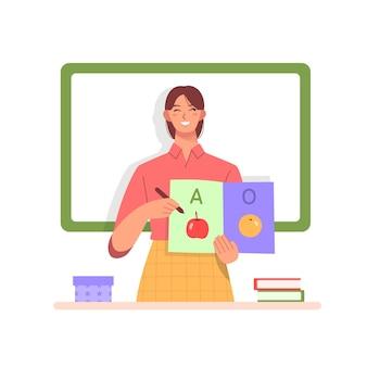 Concept de journée des enseignants au design plat