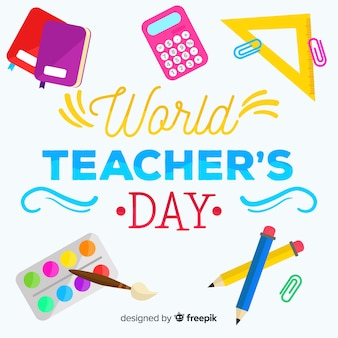 Concept de la journée des enseignants avec lettrage