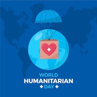 Concept de journée humanitaire mondiale design plat