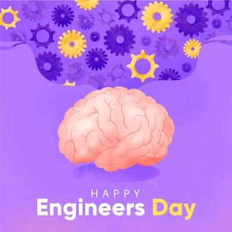 Concept de la journée des ingénieurs heureux