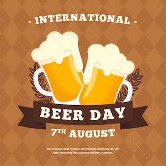 Concept de la journée internationale de la bière