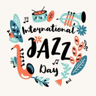 Concept de la journée internationale du jazz