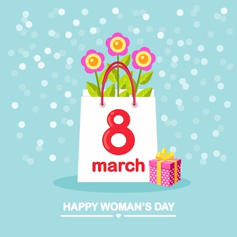 Concept de la journée internationale de la femme