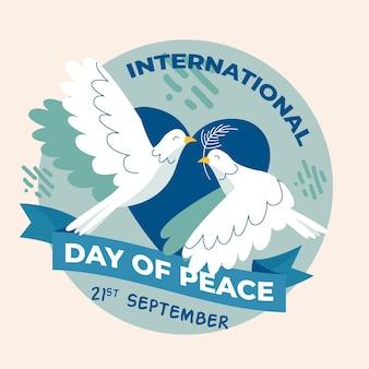 Concept de journée internationale de la paix dessiné à la main