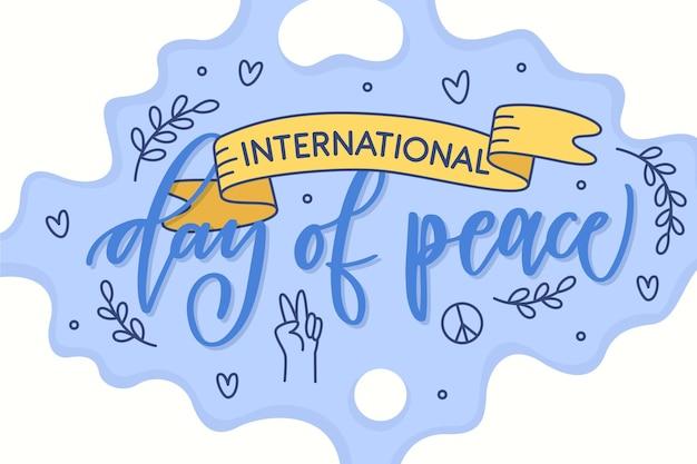 Concept de journée internationale de paix dessiné à la main