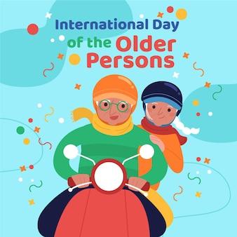 Concept de la journée internationale des personnes âgées