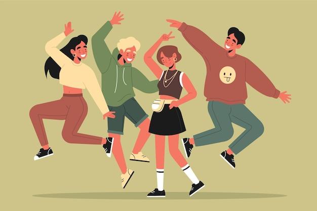 Concept de journée jeunesse design plat