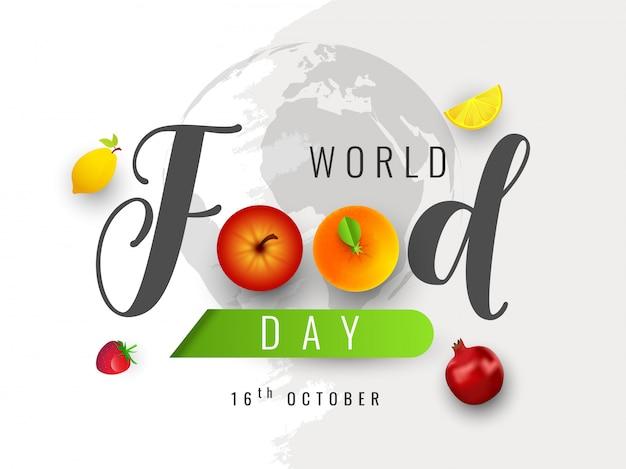 Concept de la journée mondiale de l'alimentation.