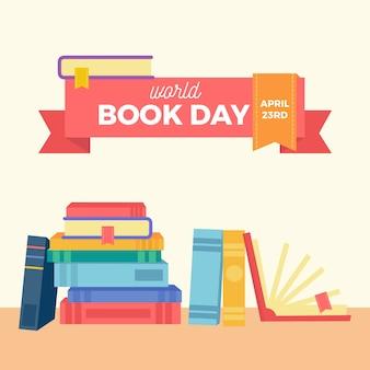 Concept de journée mondiale du livre design plat
