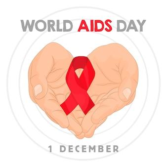 Concept de la journée mondiale du sida