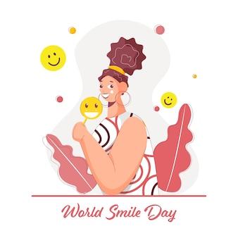 Concept de la journée mondiale du sourire