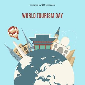 Concept de journée mondiale du tourisme avec un design plat
