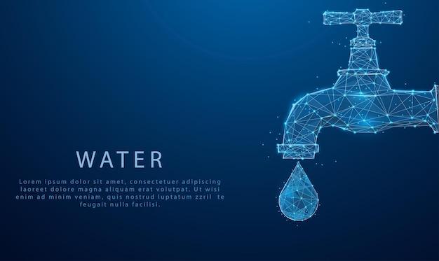 Concept de la journée mondiale de l'eau économie d'eau et concept mondial de protection de l'environnement journée de l'environnement