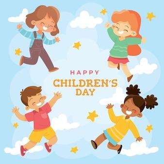Concept de la journée mondiale des enfants dessinés à la main