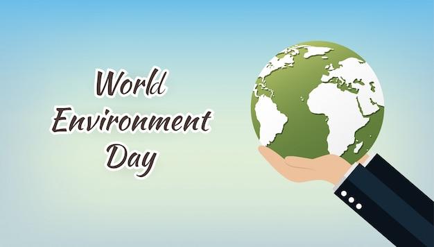 Concept de la journée mondiale de l'environnement avec save the world