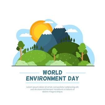 Concept de la journée mondiale de l'environnement