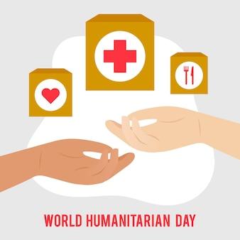 Concept de la journée mondiale de l'humanitaire