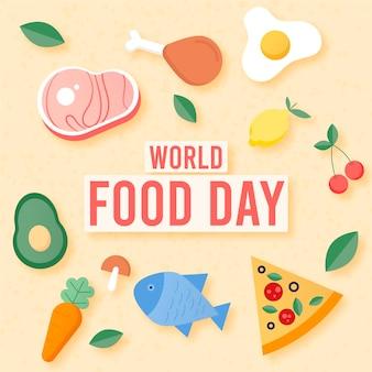 Concept de la journée mondiale de la nourriture design plat