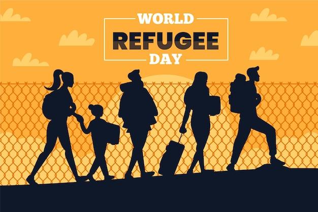 Concept de la journée mondiale des réfugiés