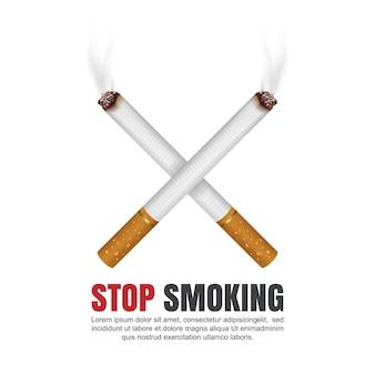 Concept de la journée mondiale sans tabac