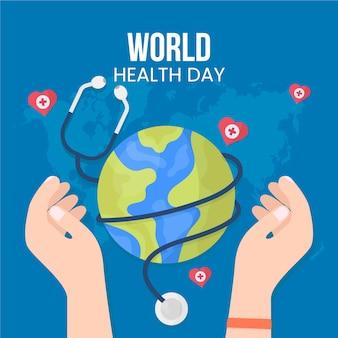 Concept de journée mondiale de la santé design plat