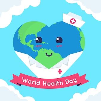 Concept de la journée mondiale de la santé internationale