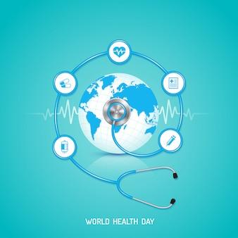 Concept de la journée mondiale de la santé pour les soins de santé et médicaux