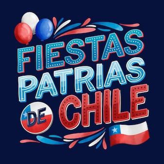 Concept de la journée nationale du chili