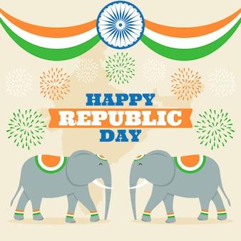 Concept de la journée nationale de la république indienne