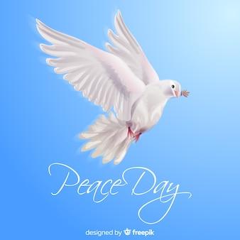 Concept de la journée de la paix avec colombe réaliste
