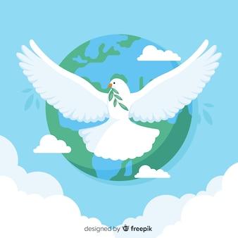 Concept de la journée de la paix avec une colombe