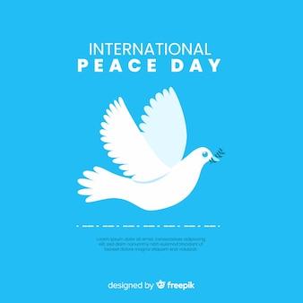 Concept de la journée de la paix avec un dover